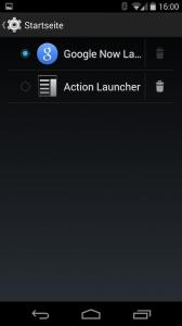 Der Launcher kann direkt ausgewählt werden