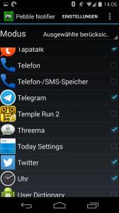 Über Drittapps können einige Mängel der Pebble App ausgeglichen werden