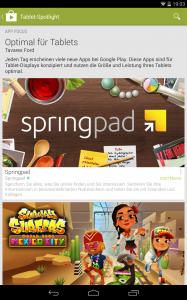 Neu: Eigene Tablet-App Rubrik
