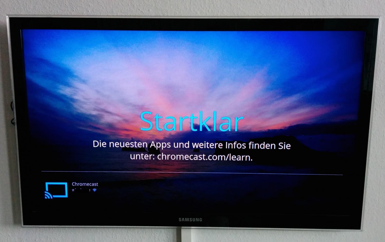 """Der eigentlich """"Desktop"""" des Chromecast ist reichlich unspektakulär"""