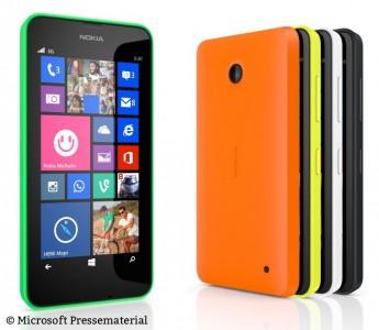 Als Einstiegsgeräte stellte Nokia zudem das 630 und 635 vor