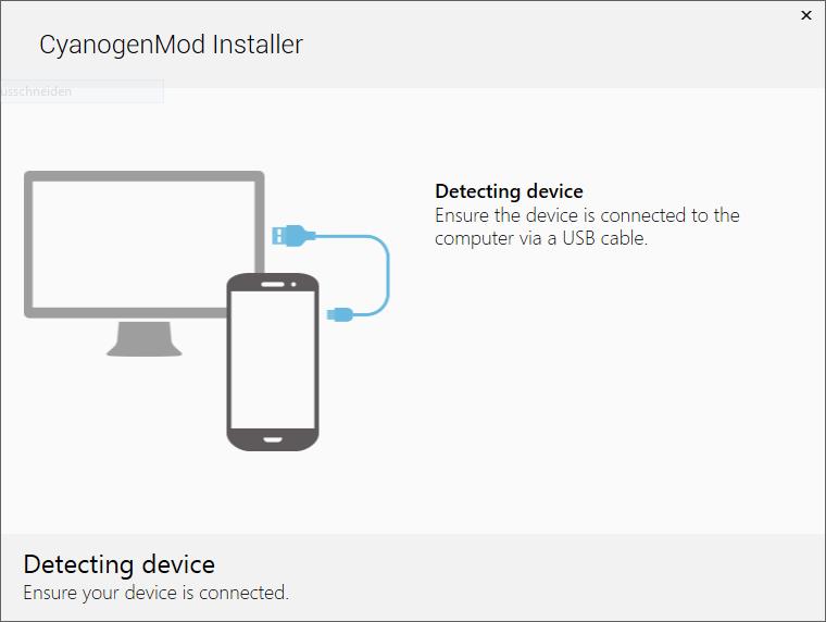 Mit dem Cyanogenmod Installer ist die Installation ein Kinderspiel