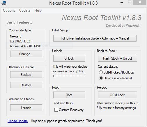 Mit dem Nexus Root Toolkit ist auch der Rückweg bei Nexus-Geräten kein Problem
