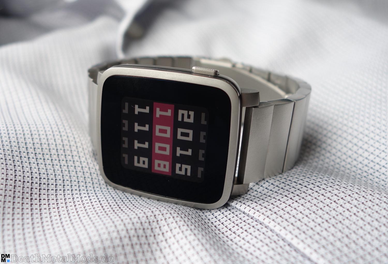 pebble time steel smartwatch im test edler teurer. Black Bedroom Furniture Sets. Home Design Ideas