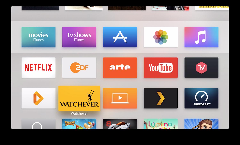 AppleTV4Hauptmenue