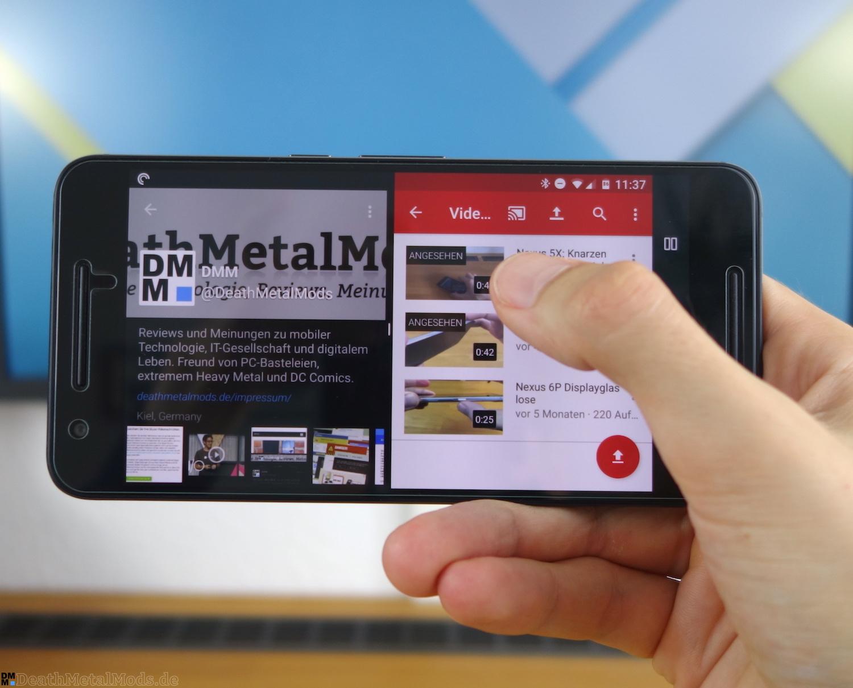 Nexus6PRueckblickSplitscreen